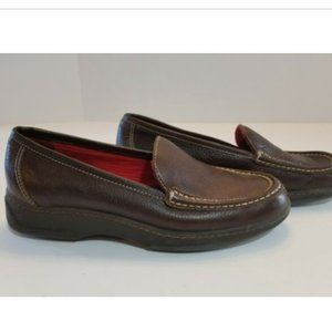 LRL RALPH LAUREN Leather Loafers Moc Toe Shoes